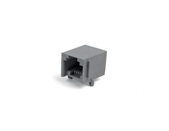 616-PCB-4P4C-90度-灰色加厚