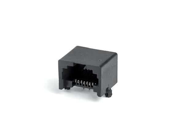 PCB-8p8c-90度-无边-黑色