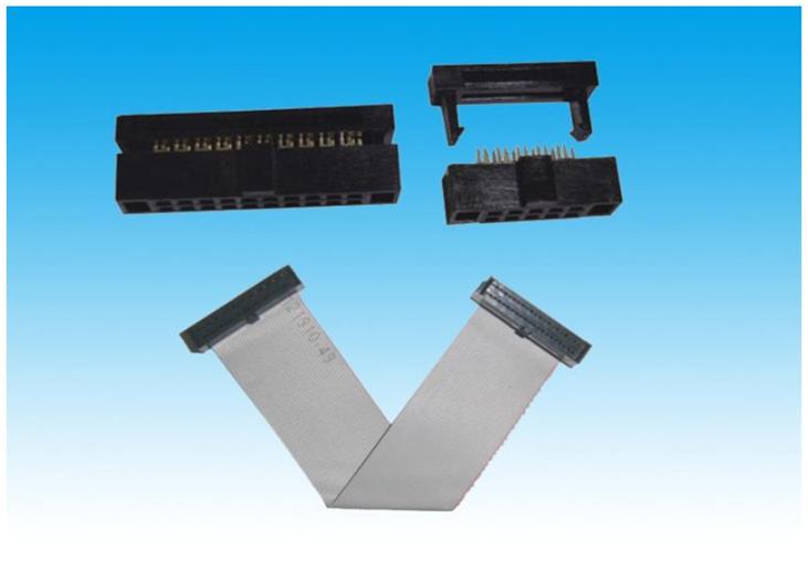 1.27mm IDC/FC三件式 牛角插头/压线头/接插件