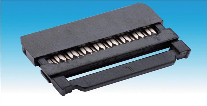 2.54mm IDC/FC三件式 牛角插头/压线头/接插件