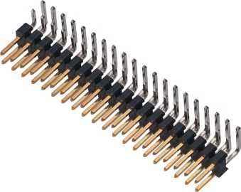1.27间距双排弯针排针