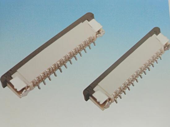 1.0FPC 立贴 带锁 正脚位 连接器