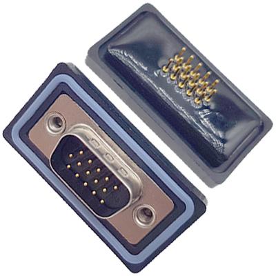D-HDD0S15PF-A000HDDS-15P 母头 三排 铆钉 直插板 黑胶芯 防水车针
