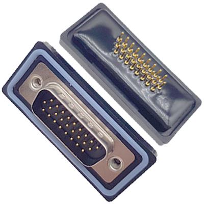 D-HDD0S24PM-A000HDDS-24P 公头 三排 铆钉 直插板 黑胶芯 防水车针