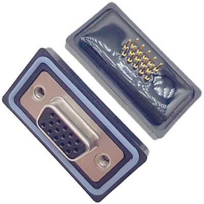 D-HDD0S15PM-A000HDDS-15P 公头 三排 铆钉 直插板 黑胶芯 防水车针