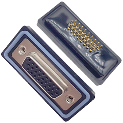 D-HDD0S26PF-A000HDDS-26P 母头 三排 铆钉 直插板 黑胶芯 防水车针
