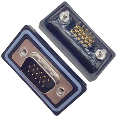 D-HDD0S15PF-B000HDDS-15P 母头 三排 铆鱼叉 直插板 黑胶芯 防水车针