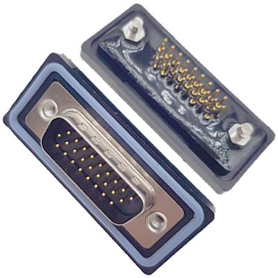 D-HDD0S24PM-B000HDDS-24P 公头 三排 铆鱼叉 直插板 黑胶芯 防水车针