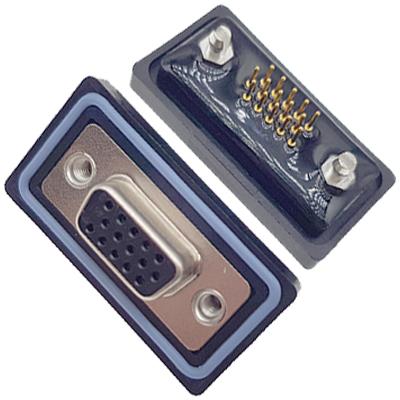 D-HDD0S15PM-B000HDDS-15P 公头 三排 铆鱼叉 直插板 黑胶芯 防水车针