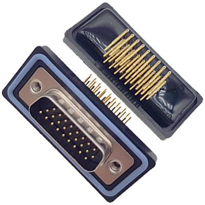 D-HDD0R26PM-A000HDDR-26P 公头 三排 铆钉 弯插板 黑胶芯 防水车针