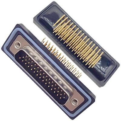 D-HDD0R45PF-A000HDDR-45P 母头 三排 铆钉 弯插板 黑胶芯 防水车针