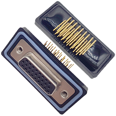 D-HDD0R27PF-A000HDDR-27P 母头 三排 铆钉 弯插板 黑胶芯 防水车针